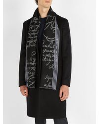 Berluti - Black Scritto Wool Scarf for Men - Lyst