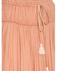 Chloé - Pink Silk-crepon Drawstring Maxi Skirt - Lyst