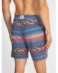 Faherty Brand - Blue Geometric Striped-print Shorts for Men - Lyst