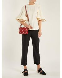 Valentino - Red Rockstud Camera Polka-dot Leather Cross-body Bag - Lyst