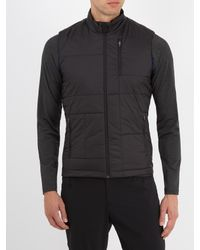 Falke - Black Quilted Technical-fabric Gilet for Men - Lyst