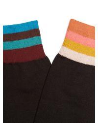 Paul Smith - Black Striped Cotton-blend Socks for Men - Lyst