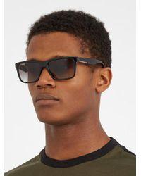 Prada - Black Rectangle-frame Acetate Sunglasses - Lyst