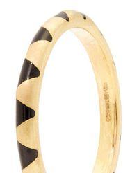 Marc Alary - Metallic - Enamel & Yellow Gold Ring - Womens - Black - Lyst