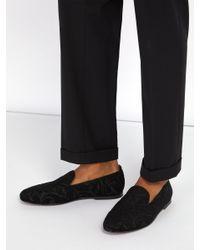 Dolce & Gabbana - Black Mocassins en jacquard for Men - Lyst