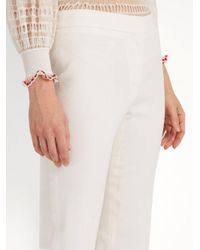 Alexander McQueen - Multicolor Mid-rise Kick-flare Wool-blend Cropped Trousers - Lyst
