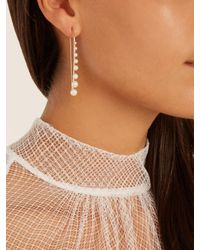 Sophia Kokosalaki | Metallic Meteorfall Pearl And Rose-gold Earrings | Lyst
