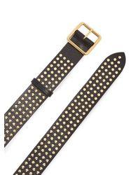 Alexander McQueen - Black Studded Leather Belt - Lyst