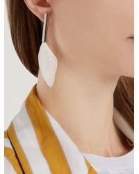 Maison Margiela - Metallic Feather-drop Earrings - Lyst