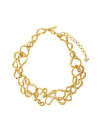 Oscar de la Renta - Metallic Entangled Chain Necklace - Lyst