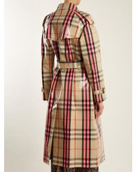 Burberry - Pink Laminated Cotton-blend Gabardine Trench Coat - Lyst
