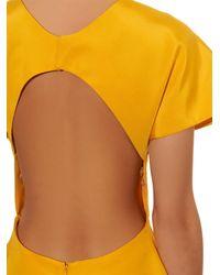 Rosie Assoulin | Yellow Buttercup Cotton-faille Dress | Lyst