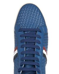 Moncler - Blue Mont Charles Leather High-Tops for Men - Lyst