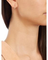 Elise Dray - Multicolor Diamond, Pearl & Pink-gold Mini Rock Earring - Lyst