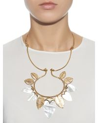 Aurelie Bidermann - Metallic Talitha Mother-of-pearl & Gold-plated Necklace - Lyst