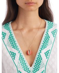 Aurelie Bidermann - Pink Merco Shell & Yellow-gold Necklace - Lyst
