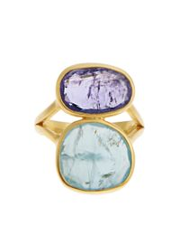 Pippa Small - Metallic Amethyst, Aquamarine & Yellow-gold Ring - Lyst