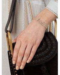Jade Jagger - Metallic Diamond & Yellow-gold Chevron Shield Bracelet - Lyst