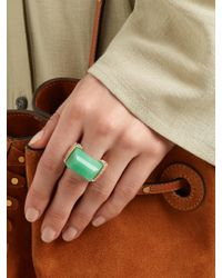 Jade Jagger - Green Chrysoprase & Yellow-gold Never Ending Ring - Lyst