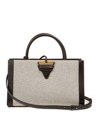 Loewe - White Barcelona Canvas And Leather Tote - Lyst