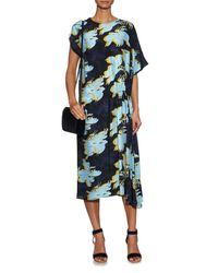 Cedric Charlier - Multicolor Floral -print Silk Dress - Lyst