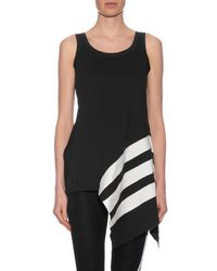 Y-3 - Black Side-stripe Longer Length Tank Top - Lyst