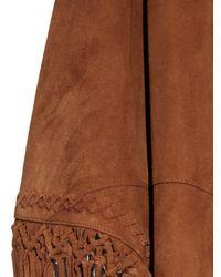 Talitha - Brown Macrame-detail Suede Shawl - Lyst