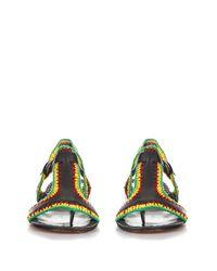 Rachel Comey - Black Bays Crochet and Leather Sandals - Lyst