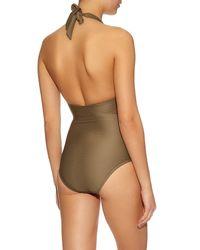 Heidi Klein - Natural Manda Island Plunging Swimsuit - Lyst