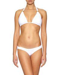 OndadeMar - White Triangle Halterneck Bikini Top - Lyst