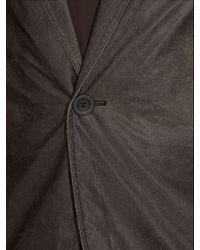Rick Owens - Gray Stravinsky Coated-wool Blazer for Men - Lyst