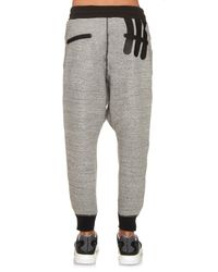 Y-3 - Gray Digital Jersey Track Pants for Men - Lyst
