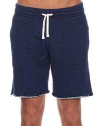 Maison Kitsuné - Blue Raw-hem Cotton-jersey Shorts for Men - Lyst
