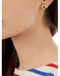 Delfina Delettrez - Metallic Emerald, Diamond & Yellow-gold Earring - Lyst