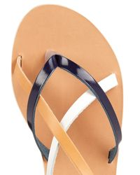 Ancient Greek Sandals - Blue Semele Leather Sandals - Lyst