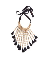 Figue | Blue Sina Shell And Tassel Necklace | Lyst