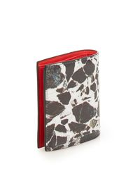 Christian Louboutin - Black Marble-print Paros Bi-fold Wallet - Lyst