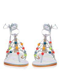Sophia Webster - Multicolor Arielle Self-tie Leather Sandals - Lyst