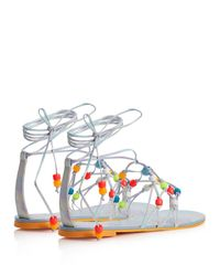 Sophia Webster - Multicolor Arielle Self-tie Leather Sandals - Lyst