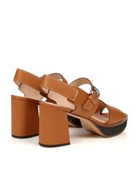 Max Mara - Orange Peblo Sandals - Lyst