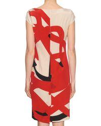 Max Mara - Natural Kiota Printed Silk Dress - Lyst