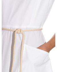 Sportmax - White Lettera Dress - Lyst