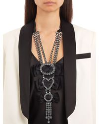 Lanvin - Metallic Courtney Crystal-embellished Necklace - Lyst