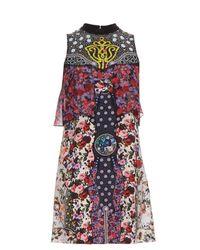 Mary Katrantzou   Multicolor Valentina Floral Silk Dress   Lyst