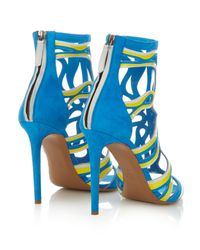 Peter Pilotto - Yellow Cage Leather And Suede Sandals - Lyst