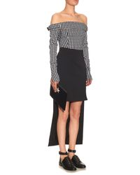 Preen By Thornton Bregazzi - White Kailey Off-the-shoulder Gingham Top - Lyst
