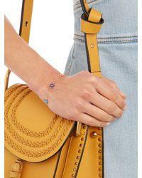 Alison Lou - Diamond, Enamel & Yellow-gold Wildflower Bracelet - Lyst