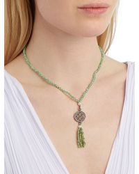 Jade Jagger - Green Diamond, Chrysoprase & Silver Necklace - Lyst