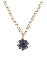 Aurelie Bidermann - Blue Diamond, Sapphire & Yellow-gold Necklace - Lyst
