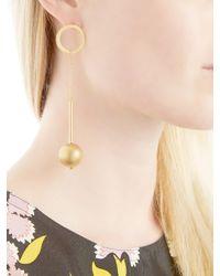 Marni - Metallic Sphere Drop Earrings - Lyst